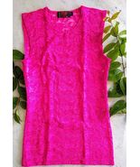 Tripp NYC Pink Lace Top - $35.00