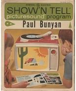 Paul Bunyan Show 'N Tell Picturesound Program 1964 Vintage ST 112 - $8.90