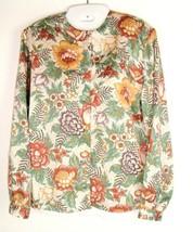 Vtg Diane Von Furstenberg Floral Button Down Blouse Top Sz 6 polyester s... - $19.75