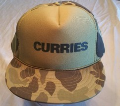 Curries hat cap adjustable Construction metal camouflage snapback green #48 - $12.59