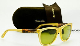 Tom Ford Men's Sunglasses TF500/S Andrew 41N Translucent Yellow/Green 54... - $149.95