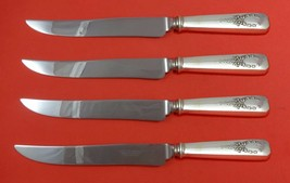 Madam Jumel by Whiting Sterling Silver Steak Knife Set 4pc Texas Sized Custom - $247.10