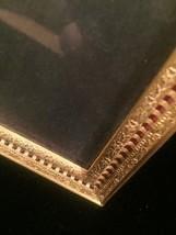 """Vintage 40s gold ornate 5"""" x 7"""" frame with red under front gold design image 2"""
