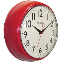 New Westclox 32042R 9.5 Retro 1950s Kitchen Wall Clock - $31.41