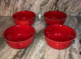 Royal NORFOLK-Red CEREAL/SERVING Bowl Set Of 4-Micro/Dish Safe-SHIPS N 24 Hours - $49.38