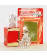 "2 Vintage Filigree Glass ""Crystal"" Christmas Ornaments Angel & Teapot - $10.00"