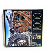 Eiffel Tower and Carousel Big Ben Luxe 1000 Piece Jigsaw Puzzle - $9.74