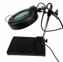 Industrial Vintage Adjustable Magnifying Desk Lamp Magnifier Light Magnify image 6