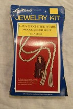 Lee Wards Jewelry Kit Lacy Crocheted Pearl Necklace/Belt w/Instructions ... - $14.84