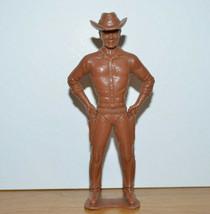 Vintage Ajax Plastic Cowboy Figurine 1960's Western Toy Sheriff - $9.28