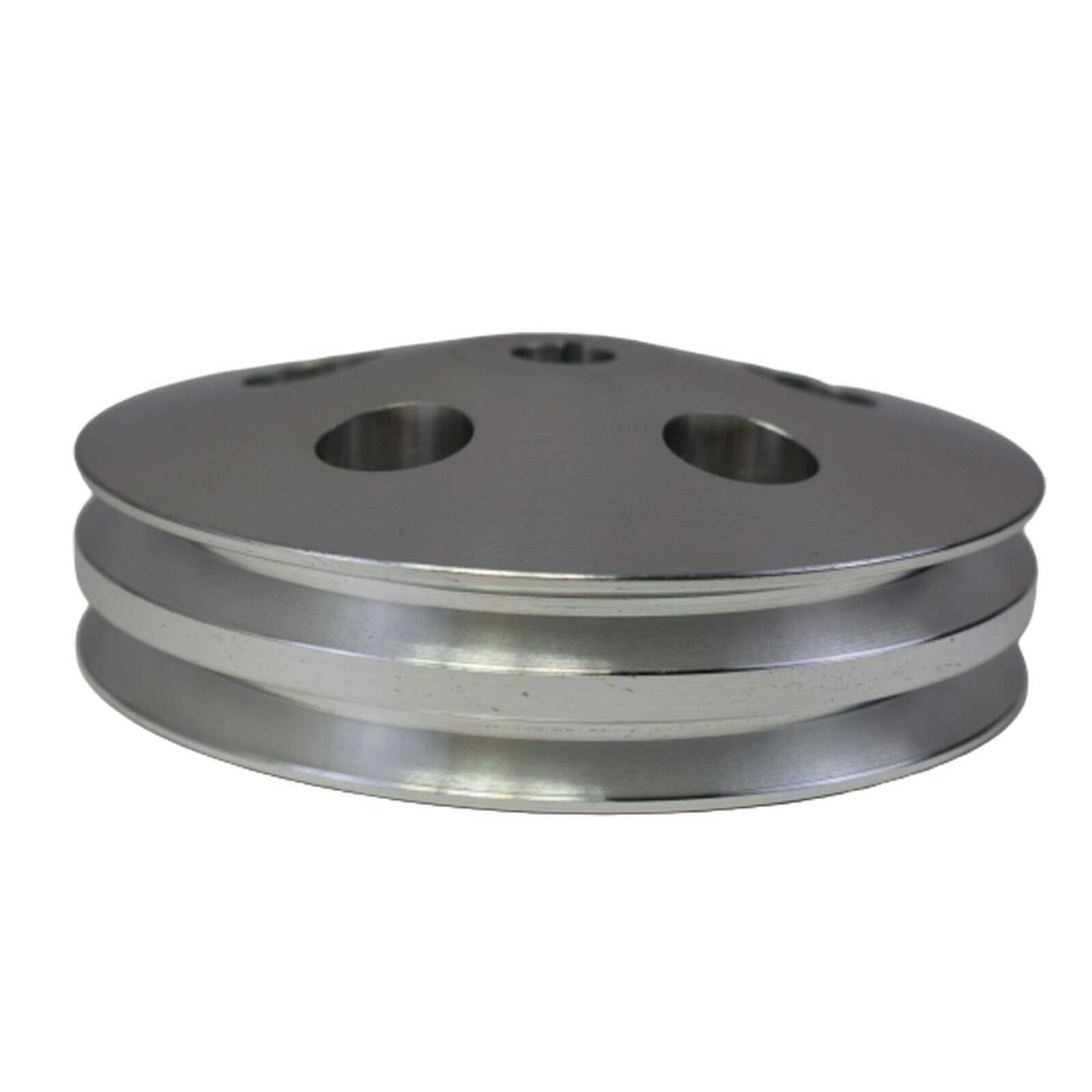 Saginaw Power Steering Pump Double-Groove Aluminum Pulley For GM (Chrome)