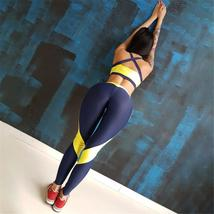 Yoga Gym Fitness Gym Sportswear 2 Piece Seamless Compression Workout Suit image 2