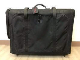 TUMI Suitcase Black Ballistic Nylon Wheeled Rolling Pull Handle Collapsi... - $120.00