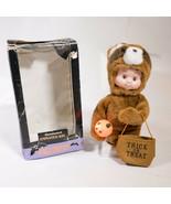 Vintage Santas Best Halloween Kids Animated Raccoon Doll Motionette With... - $24.95