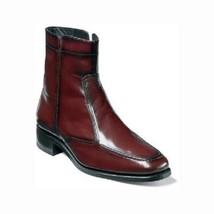 Florsheim Essex Boot Mens Shoes Black Cherry Leather Side Zipper 17074-18 - $135.00