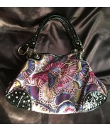Kathy Van Zeeland Purple / Blue / Black Chain Shoulder Bag / Tote, EUC - $38.22