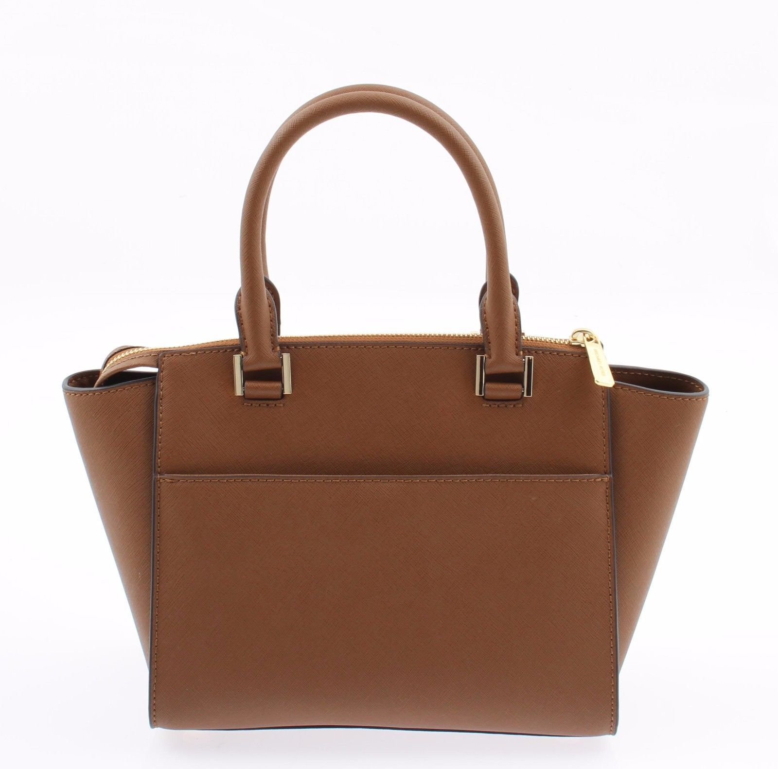 f266f2bb72cc Michael Kors Hudson Medium Satchel Shoulder Crossbody Handbag Saffiano  Leather