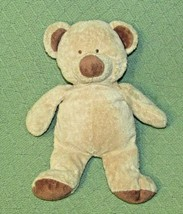 "Ty PLUFFIES TEDDY 2004 BEAR Tan Brown 12"" Stitched Eyes Plush Stuffed Lo... - $9.50"