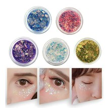 Eyes Glitter Powder Sequins Hair Face Eye Shinny Gel Pigment Flash Heart... - $5.89+