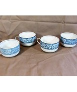 Vintage Lot of 3 Coffee Cups HENLEY Blue, Johnson Brothers - $13.09