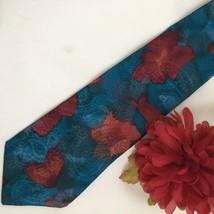 Pierre Cardin Blue & Red Print men's silk business tie - $11.95