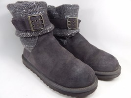 UGG Cambridge Buckle Ankle Boots Size 8 M (B) EU 39 Gray Model # 1006735
