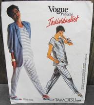 Vogue Individualist Sewing Pattern Tamotsu 1904 Jacket Top Pants* - $18.00