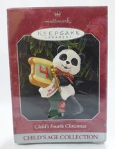 Hallmark keepsake Christmas ornament child fourth Christmas handcrafted  - $7.92