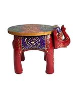 Wooden Colored Designer Medium Stool Elephant home Decor. Decorative Sto... - $96.99