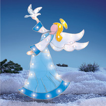 Lighted Outdoor Angel Garden Stake Christmas Decoration, Stained Glass L... - $44.66