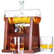 Whiskey Decanter Set, 1250ml Whiskey Decanter with 2 Whiskey Glasses - $162.24