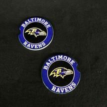 BALTIMORE RAVENS  car coaster set of two SANDSTONE CAR COASTERS - $14.80