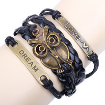 Owl Love Charm Rope Friendship Bracelet Gift - $14.00