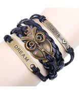 Owl Love Charm Rope Friendship Bracelet Gift - €12,98 EUR