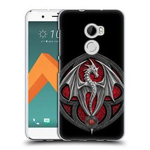 Official Anne Stokes Logo Dragons 4 Soft Gel Case Compatible for HTC One... - $25.60