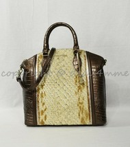 NWT Brahmin Large Duxbury Satchel/Shoulder Bag in Honey Carlisle - $339.00