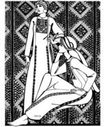 Folkwear Gaza Dress #101 Frock Gown Mediterranean Sewing Pattern (folkwe... - $16.95