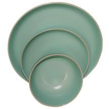 Gibson Home Rockaway 12 Piece Stoneware Dinnerware Set In Matte Teal - $37.49