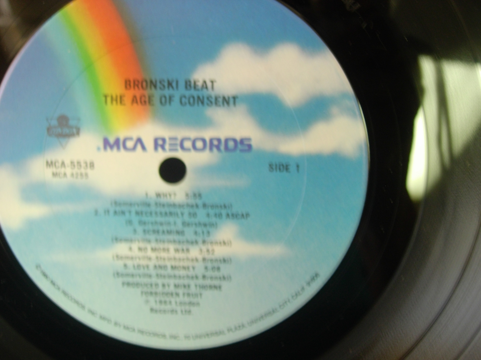 Bronski Beat - The Age of Consent - MCA 5538