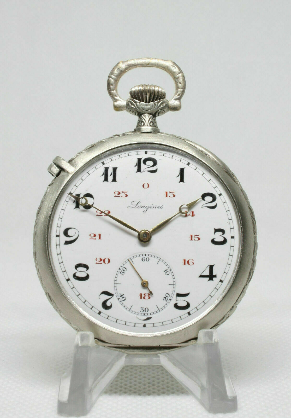 Longines cal.18.69N Military Awarded Pocket Watch Good Beautiful Condition - $600.00