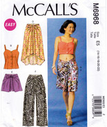 McCall's M6968 Womens Misses Tops Skirts Shorts Pants Sewing Pattern Siz... - $7.25