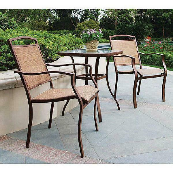 Modern Bistro Set 3 Pieces Sand Dune Home Garden Elegant Design Stylish Decor