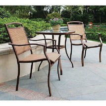 Modern Bistro Set 3 Pieces Sand Dune Home Garden Elegant Design Stylish ... - $122.78