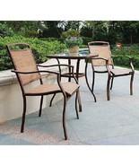 Modern Bistro Set 3 Pieces Sand Dune Home Garden Elegant Design Stylish ... - $122.78