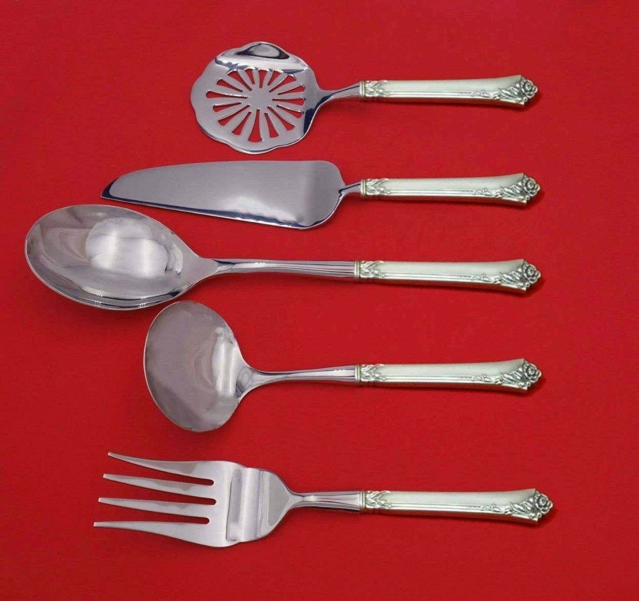 Primary image for Damask Rose by Oneida Sterling Silver Thanksgiving Serving Set 5pc Custom Made