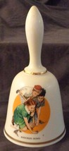 Knuckles Down, Norman Rockwell - 1977 - Danbury Mint Collectible Bell - VGC COA - $26.72