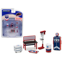 Greenlight Muscle 6pc Set Shop Tools Standard Oil 1/64 by Greenlight 13157 - $15.32