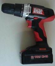 ULTRA STEEL 12V CORDLESS DRILL/DRIVER - $26.98