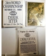 1997 Bleachers 23kt Gold 1996 Rookie of the Year Derek Jeter With Box An... - $42.46