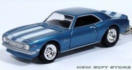 Rare Key Chain 1967/1968/1969 Blue Chevy Camaro Ss Z28 Chevrolet New Ltd Edition - $44.98